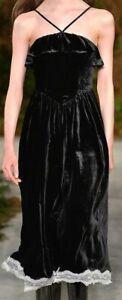 WOW! New Alexa Chung black velvet halter dress $555 US 2, 4 ALEXACHUNG