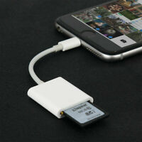 Lightning to SD Card Adapter Camera Reader For Apple iPhone iPad ipod