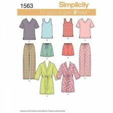Simplicity Sewing Pattern , Mens & Teens Sleepwear 16 Piece Fabric  1563