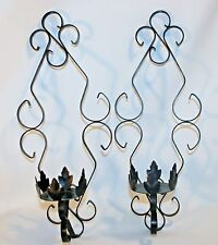 Chic Wrought Iron Black Gothic Castle Candle Holder Sconce Vintage Shabby decor