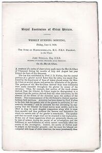 'On the Mer-de-Glace.'Original offprints by John Tyndall
