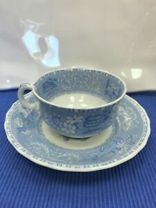 Spode Blue Camilla Set of Two NEW Tea Cups & Saucers Made in England