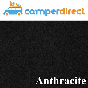 20 Sq Mtrs Anthracite Van Lining Carpet 4 Way Stretch + 10 Tins High Temp Spray