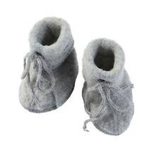 Engel Baby Fleece-Schühchen mit Bändel und Flatlocknähten Bio-Schurwolle