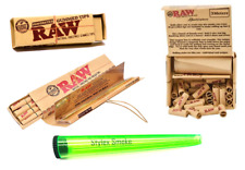 RAW GIFT BUNDLE SMOKING ROLLING PAPERS RAW ROLL WITH TIPS & GUMMED TIPS & HOLDER