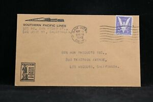 California: San Jose 1945 Southern Pacific Railroad Lines Cover, Buy War Bonds