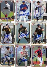 LUIS HEREDIA SIGNED 2015 BOWMAN PROSPECT ROOKIE CARD AUTO