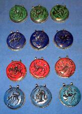 "WHOLESALE LOT04 12 Pendants Animals Afghan Kuchi Tribal Alpaca Silver 2"""