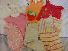 GYMBOREE 10pcs Lot Girls Outfit Set Sz 4T Top Skirts Summer Butterfly Short Sock