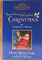 Hallmark 2001 Twas the Night Before Christmas HUNG WITH CARE ORNAMENT New-in-Box
