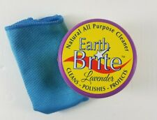 Earth Brite Lavender Natural All Purpose Cleaner Cleans Polish Protects + Sponge