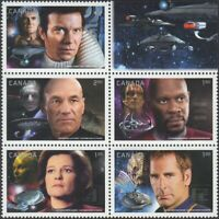 STAR TREK = Block of 5 stamps from Miniature Sheet Canada 2017 MNH-VF