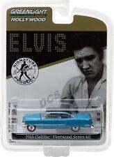 Greenlight 1955 Cadillac Fleetwood Blue Elvis Presley 1935-77 Car 1/64 44760A