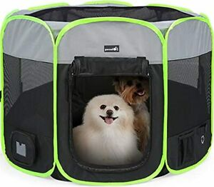 Pecute Foldable Dog Playpen, Portable Folding Pet Cage Indoor Outdoor Use Waterp