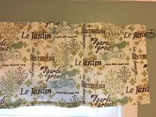 "Country style  Curtain Valance Window Topper 44""W x 14""L"