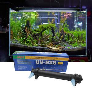 Aquarium Pond UV Lamp Fish Tank Sterilizer Light Purify Water Cleaner Clarifier