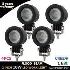 4X 10W Cree LED Work Light Flood Offroad Driving Fog Lamp Motorcycle 4WD UTE 12V