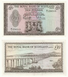 The Royal Bank of Scotland Ltd £10 (1969) BYB ref: SC818 - EF.