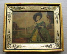Altes Ölgemälde Rokoko Dame evtl. vor Nymphenburg