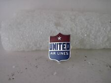 vintage United Air Lines  cloisonne logo  lapel pin (4f20  1 )