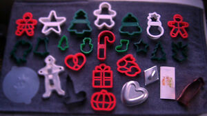 25 COOKIE CUTTERS CHRISTMAS HALLOWEEN EASTER VINTAGE TIN MARTHA STEWART & MORE!
