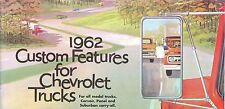 1962 CHEVROLET TRUCK  GENUINE ACCESSORIES BROCHURE-ALL MODEL TRUCKS