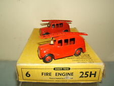 VINTAGE DINKY TOYS No.25h FIRE ENGINES IN TRADE BOX VN MIB