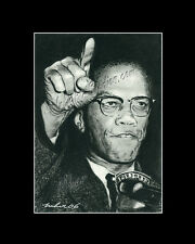 Malcolm X human rights activist drawing from artist art image picter