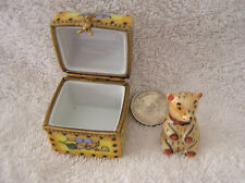 Authentic Limoges Hand Painted Toy Box w/ Teddie Bear