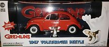 Gremlins 1967 VW Bug Beetle Diecast Car 1:24 Greenlight 7inch Orange SALE RUBBED