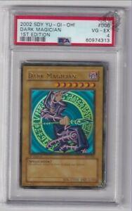 1st Edition Dark Magician SDY-006 PSA 4 North American Print YuGiOh Card