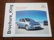 Toyota Yaris Colour Collection 1.0 1.3 VVT-i Brochure Feb 2005