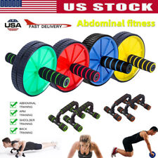 Ab Roller Exercise Dual Wheel Workout Equipment Abdominal Core Fitness Equipment