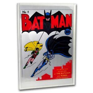 2018 35 gram Silver DC Comics Batman #1 Foil
