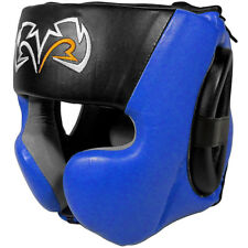 Rival Boxing RHG30 Mexican Style Cheek Protector Training Headgear - Black/Blue