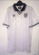 England Shirt 1990 XL , Italia 90 England Shirt , World Cup 1990