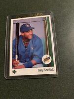 1989 Upper Deck Gary Sheffield Rookie #13 Milwaukee Brewers