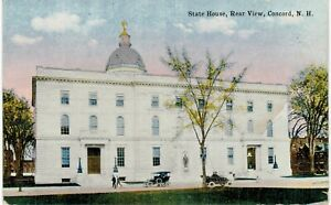 Concord State House Rear View 1910 NH