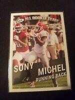 Sony Michel RC  2018 Sage Hit All Rookie Team Card # 127 Patriots Football NFL