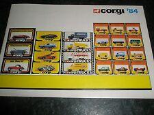 """CORGI Cars & Trucks 1984 Collectors 6"""" x 4"""" Catalog  Booklet  Checklist 30 pages"""