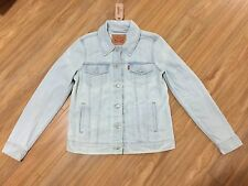 Levis Strauss Women's Denim Trucker Jacket Classic Jean Light Wash Vintage S NWT
