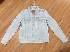 Levis Strauss Women's Denim Trucker Jacket Classic Jean Light Wash Vintage S NWT