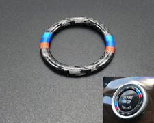 For BMW E90 E92 E93 Z4 E89 Carbon Fiber M Car Engine Start Stop Button Stickers