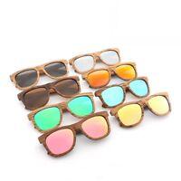 Brown Wood Frame Polarized Sunglasses Men Women's Wooden Glasses Bamboo Box Case