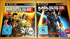 SONY PS3 3GAMES: MASS EFFECT 2 & 3 VON BIOWARE + GAME * KOMPLETT IN DEUTSCH*