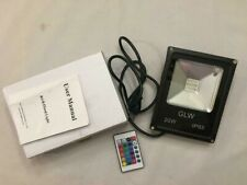 GLW LED RGB Flood Light 20W Outdoor Color Changing Lights with Remote - NEW