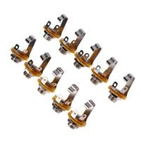 #QZO 10pcs 1/4in Guitar Jack Socket Connector Female for Electric Guitar Bass