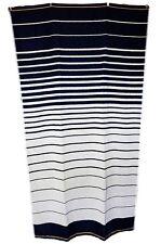noir marine blanc cassé rayures Jumbo Serviette grand drap de bain 100% coton