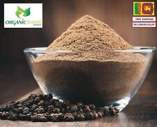 Organic Ceylon Grade A Quality Sun Dried Essential Pure Hot Black Pepper Powder!