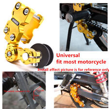 Gold Aluminum Adjuster Chain Tensioner Bolt On Roller Tool For Motorcycle Bike